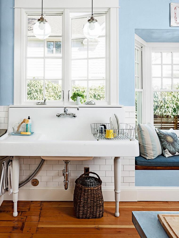 como disenar una cocina lavabo blanco ideas