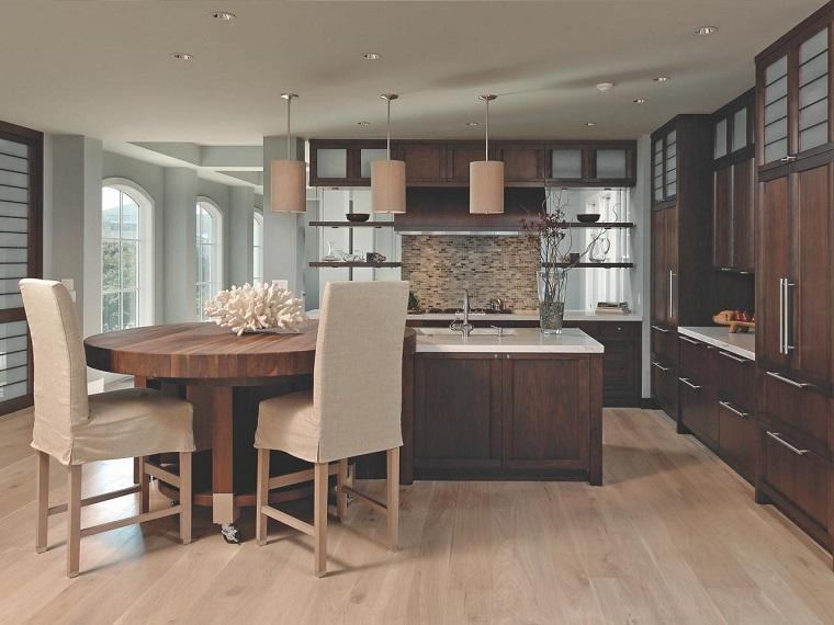 como disenar una cocina madera mesa desplaza facil ideas