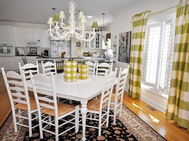 como disenar una cocina muebles blancos amplia