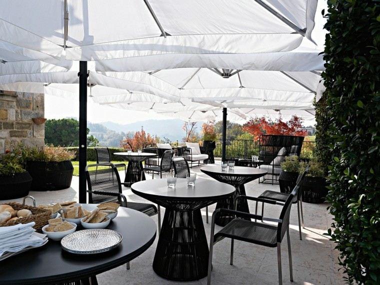 comodidad aire sofisticado jardin muebles modernas blancos