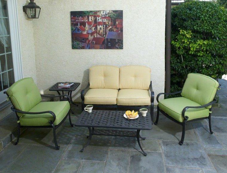 conjunto cafe sillas mesita verde