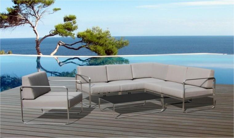 Canapes sof s y sillones de exterior para el jard n for Conjunto sillones jardin