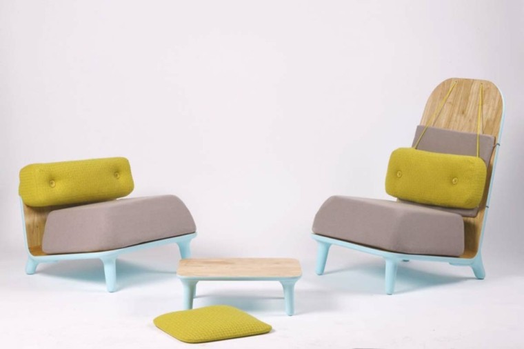 conjunto sillones diseño moderno