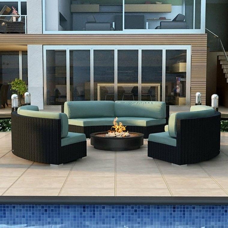 Sillones y sof s para exteriores rel jese en su jard n for Sofa mimbre terraza
