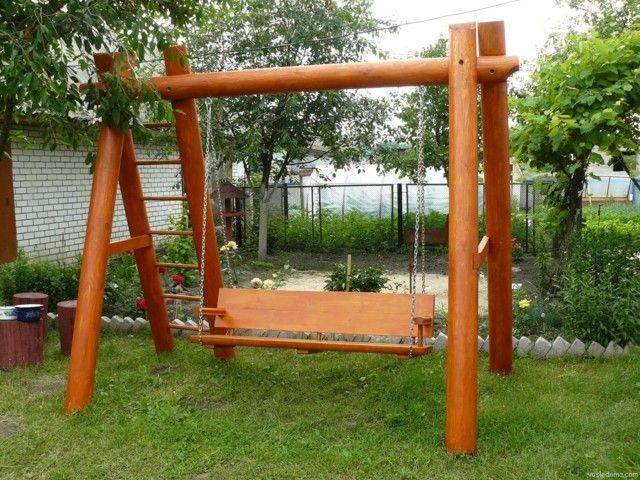 construccion grande columpio jardin idea moderno
