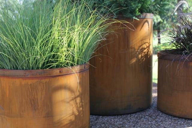 contenedores plantas hierbas metal decoracion