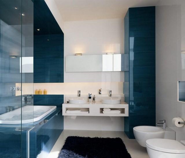 contraste azul marinero estilo moderno