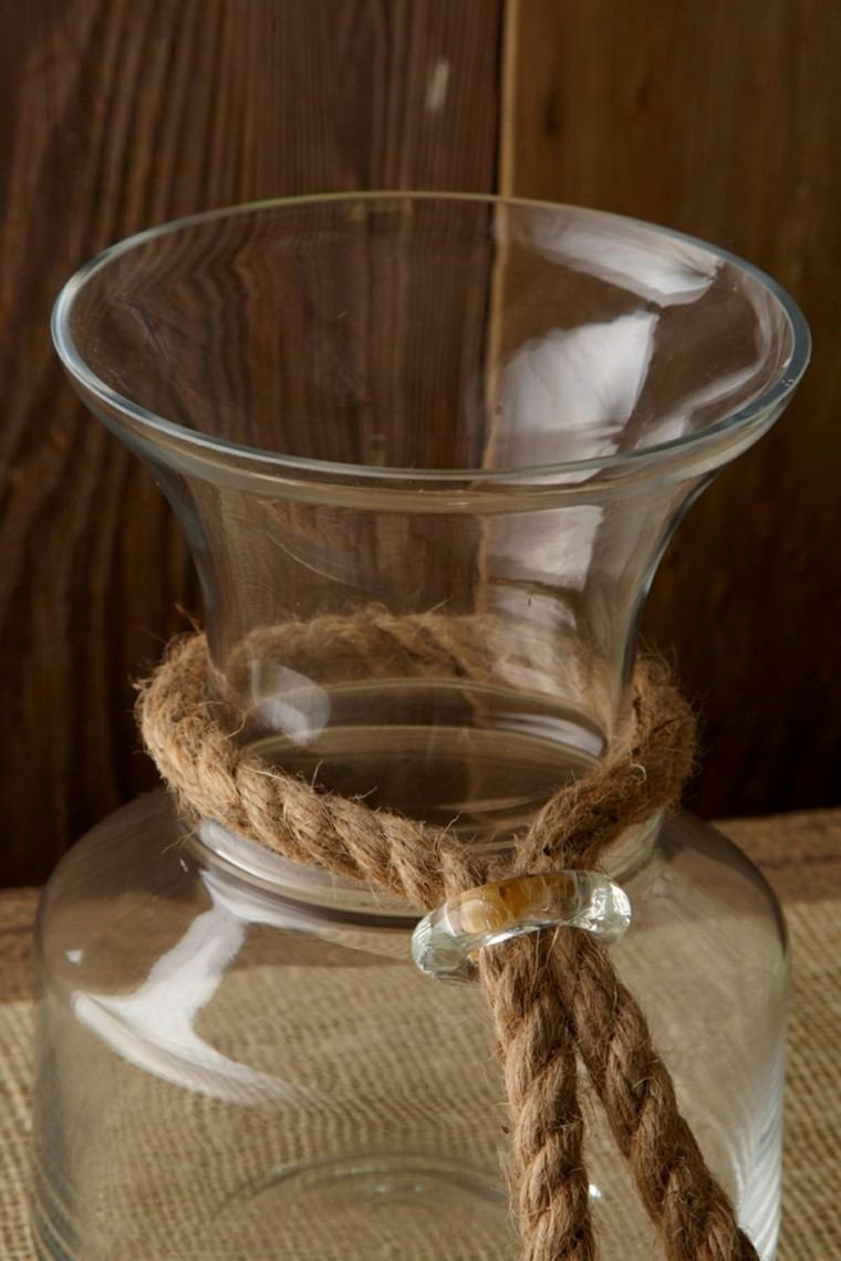 cordel grueso decorar jarrones cristal