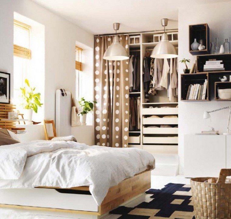 cortina puntos beige dormitorio bonito pequeño