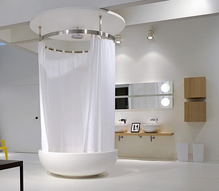 Cortinas De Baño Con Diseno:cortinas blancas ideas baño decoracion ideasmoderna