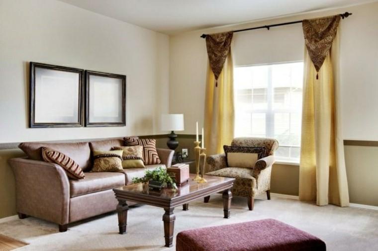 cortinas moderno cojines cuadros dorado