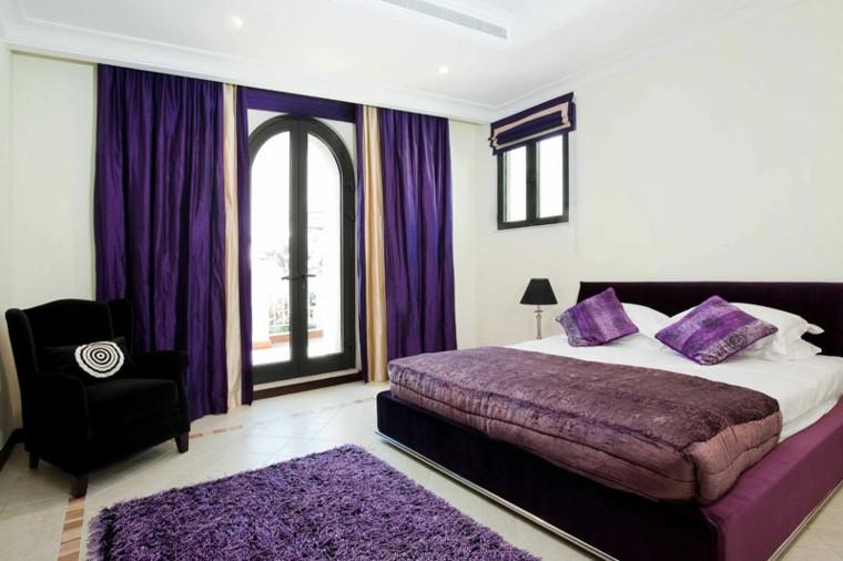 cortinas moradas dormitorio solteros