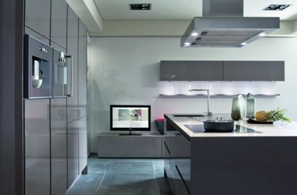cocina muebles color gris