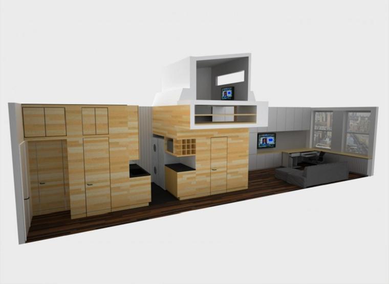 crea varias habitaciones estudio pared ideas madera