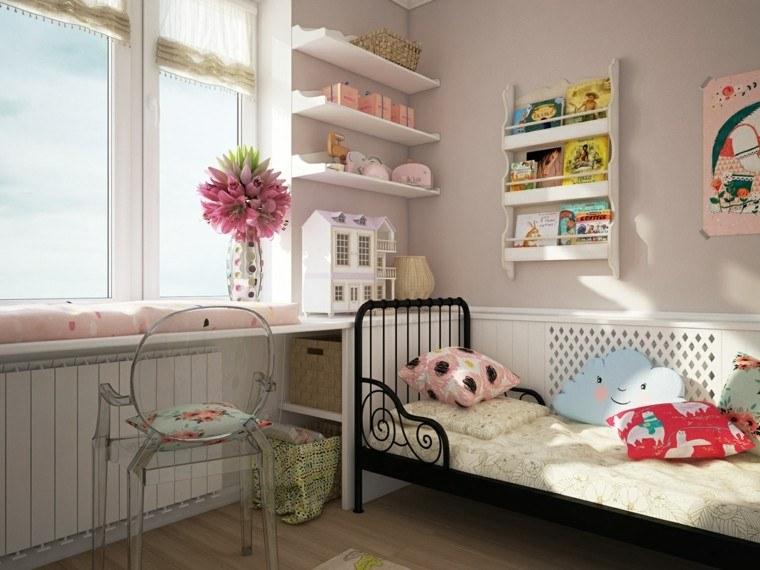 creatividad para dormitorios infantiles cama flores