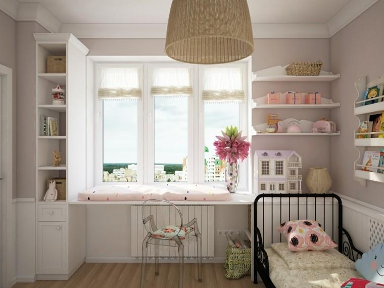 creatividad para dormitorios infantiles casa muñecas lampara