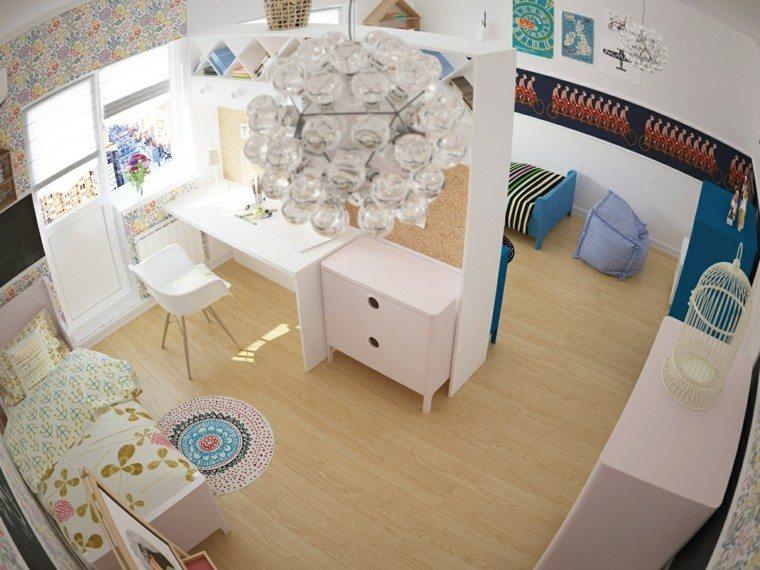 creatividad para dormitorios infantiles division lampara