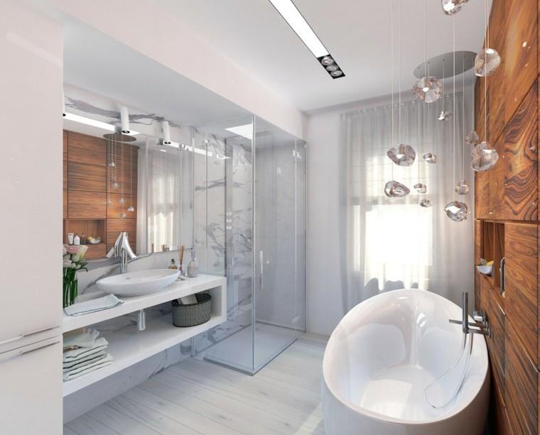 cristales colgando bañera bonita redonda