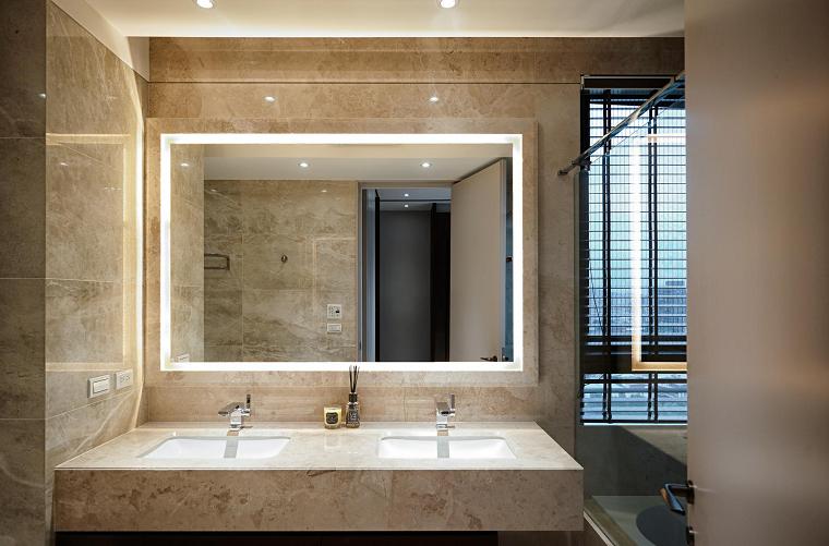 cuarto baño paredes marmol original moderno diseño