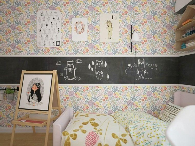 cuarto chica decoracion espacio pizarra