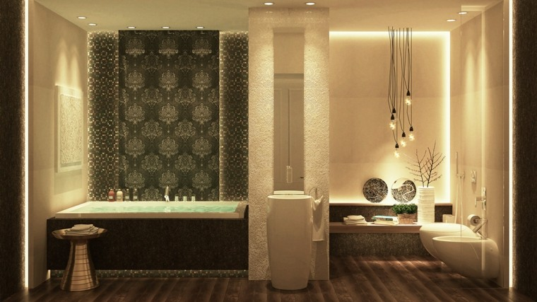 cuarto de baño de diseño bombillas taburete lavabo