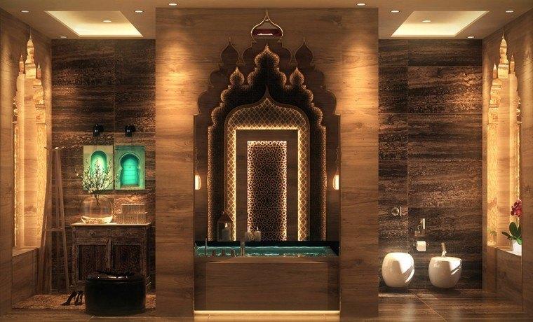 cuarto de baño de diseño lujoso creativo acogedor