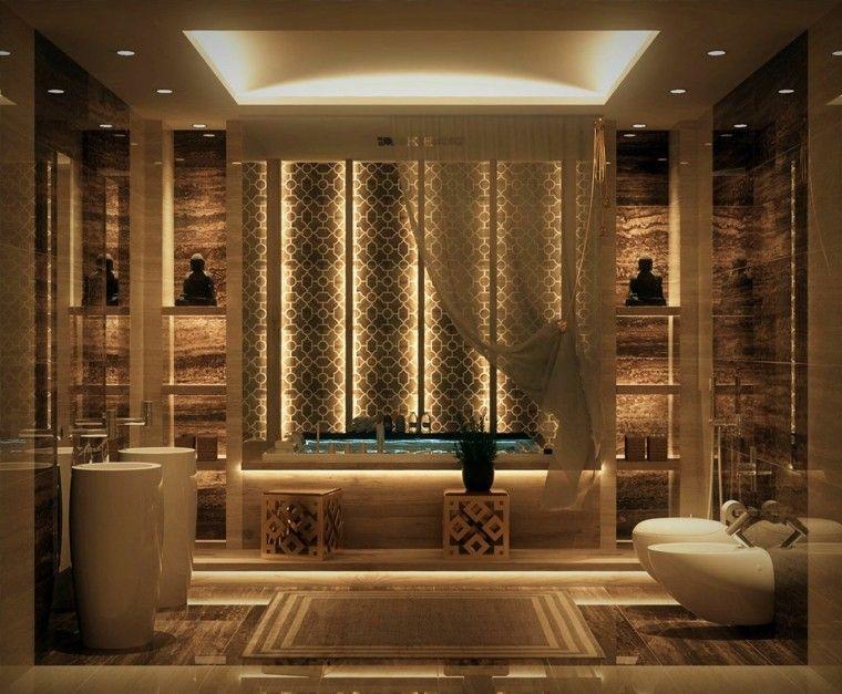 cuarto debaño de diseño macetas iconos lavabo