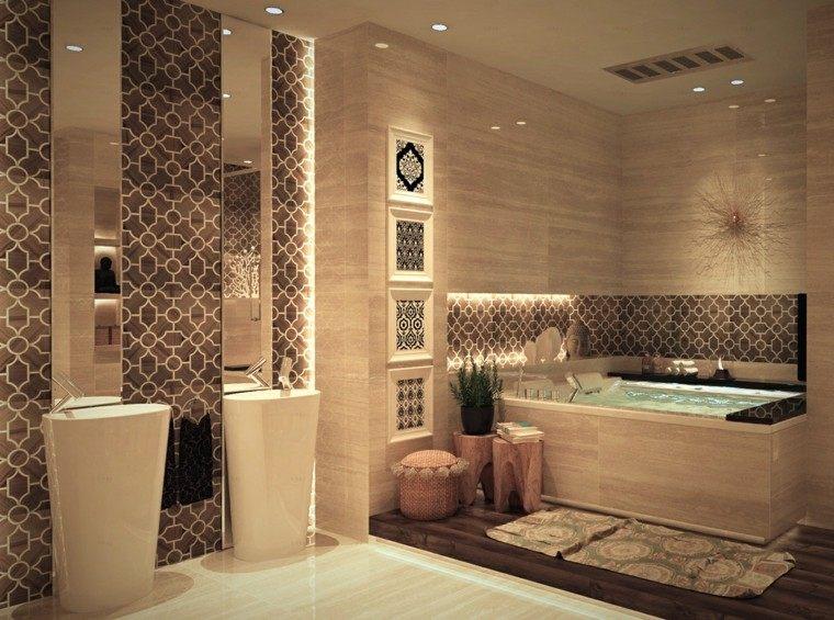 cuarto de baño de diseño toallas moderno lavabo