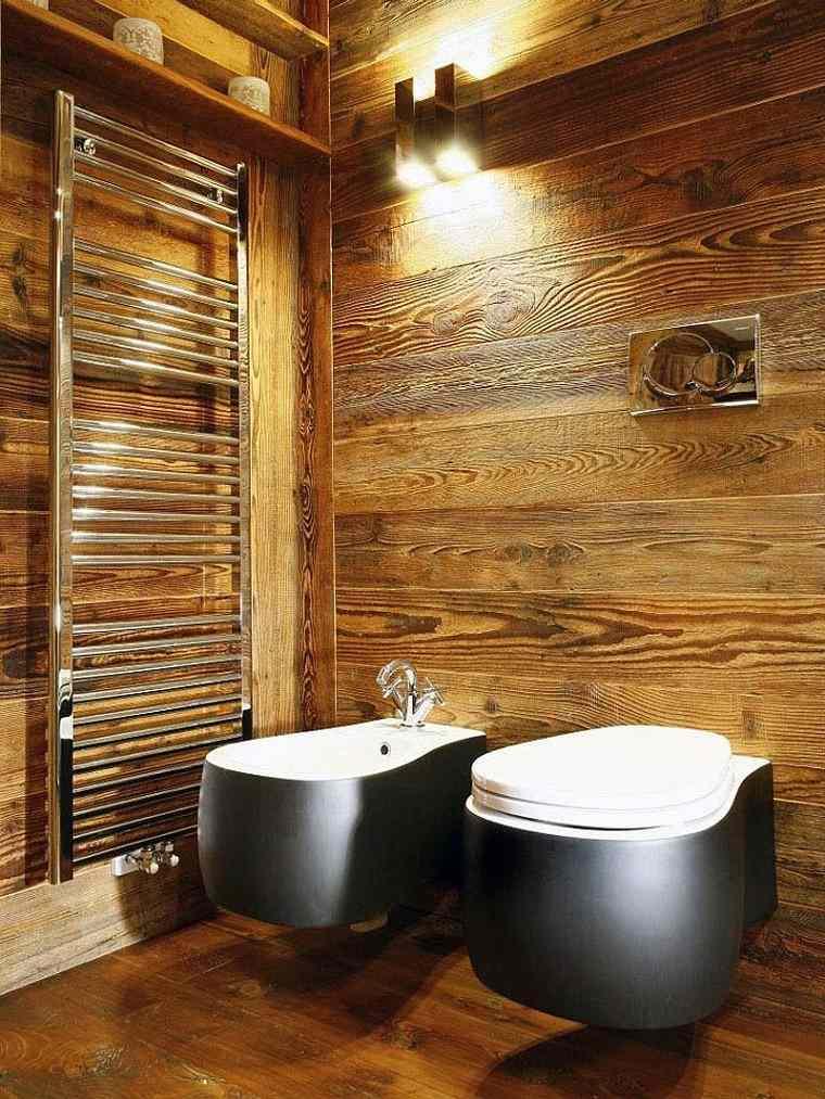 cuarto de baño madera listas led cubierta