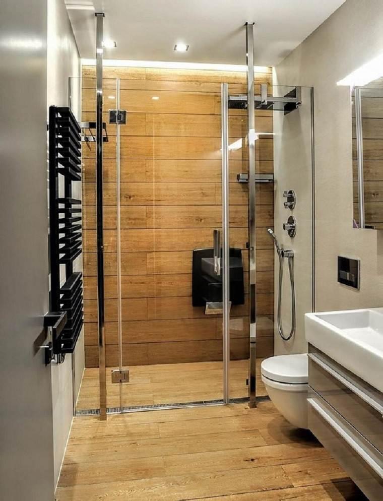 Cuarto de ba o madera calidez y confort en casa - Duchas de madera ...