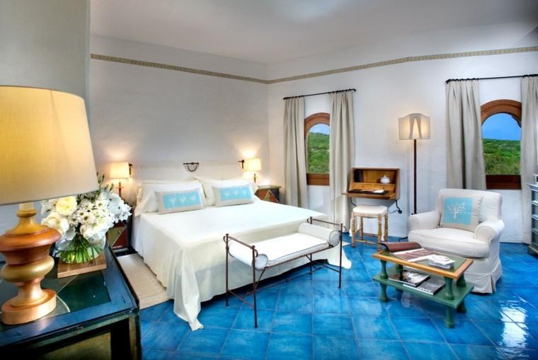 cuarto estupendo suelo color azul