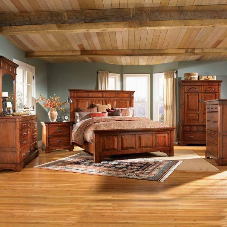 cuarto juvenil estilo rustico madera
