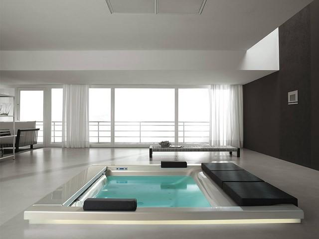 cuartos de baño amplio masaje iluminacion