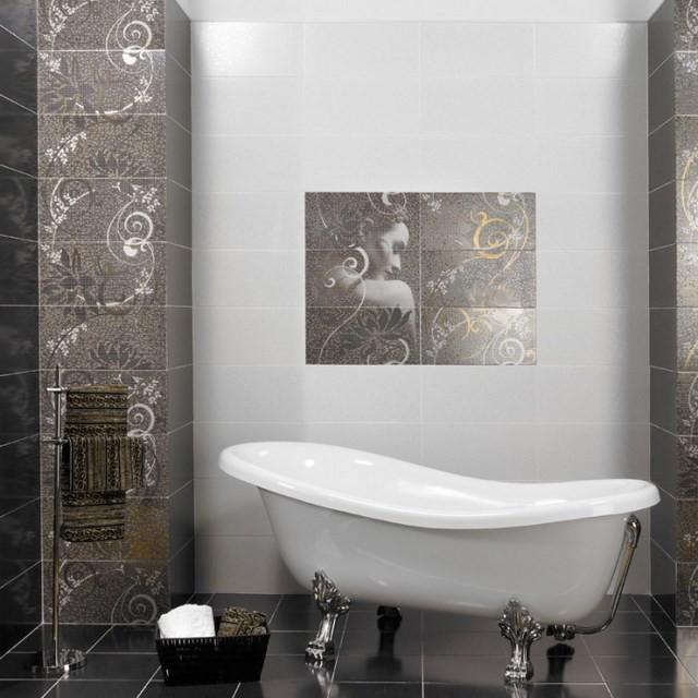 cuartos de baño bañera blanco azulejos modernos