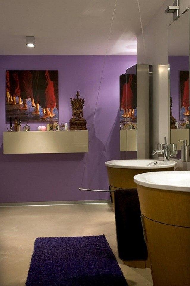 cuartos de baño colorido cuadros velas