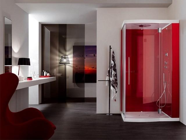 cuartos de baño cuadro rojo cuadro moderno