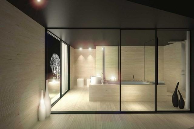 cuartos de baño lamparas moderno diseño jarrones