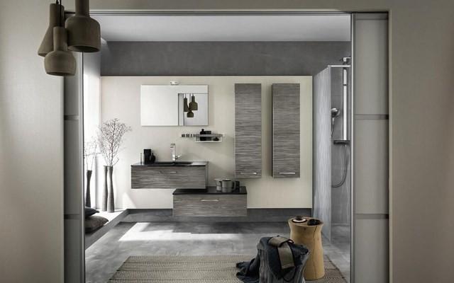 cuartos de baño lamparas muebles banqueta moderno