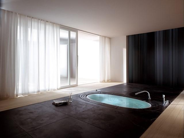 cuartos de baño masaje cortina amplio