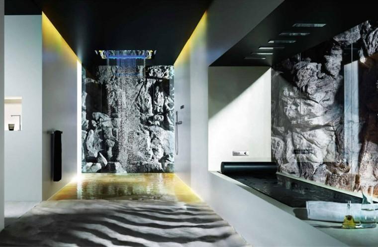 cuartos de baño modernos ducha luces lujo