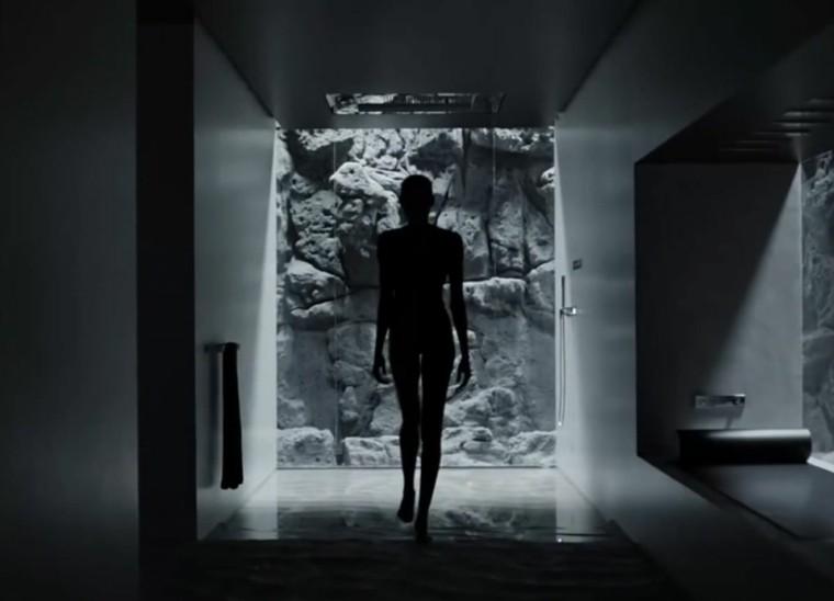 cuartos de baño modernos sensor rocas luces
