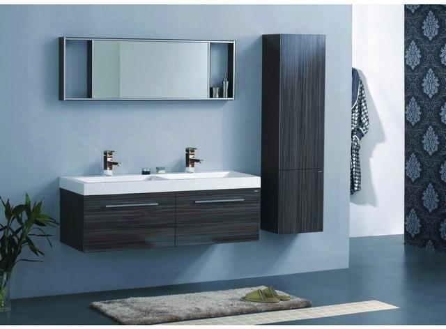 cuartos de baño muebles madera plantas