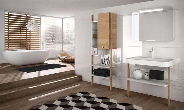 cuartos de baño natural figuras niveles