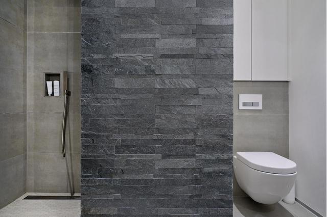 cuartos de baño piedra ducha moderna decoracion