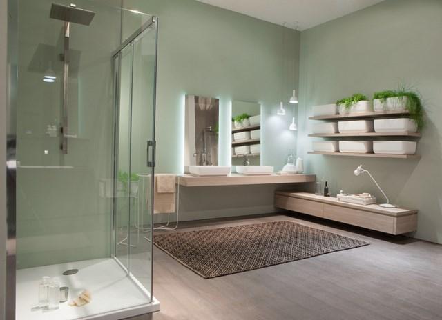 cuartos de baño plantas jardinera natural