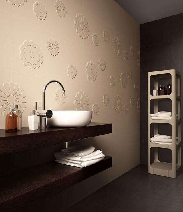cuartos de baño textura lavabo contraste moderno