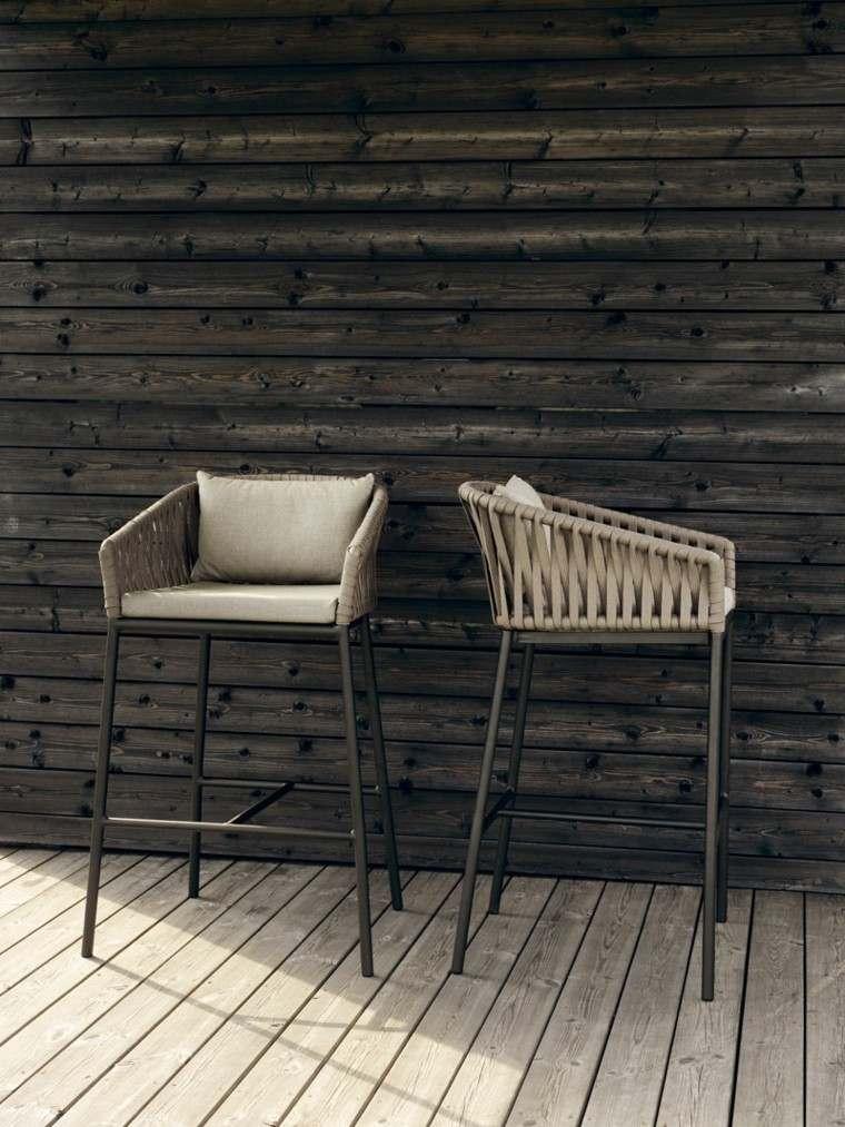 cuerdas sillas decoracion madera cuerdas