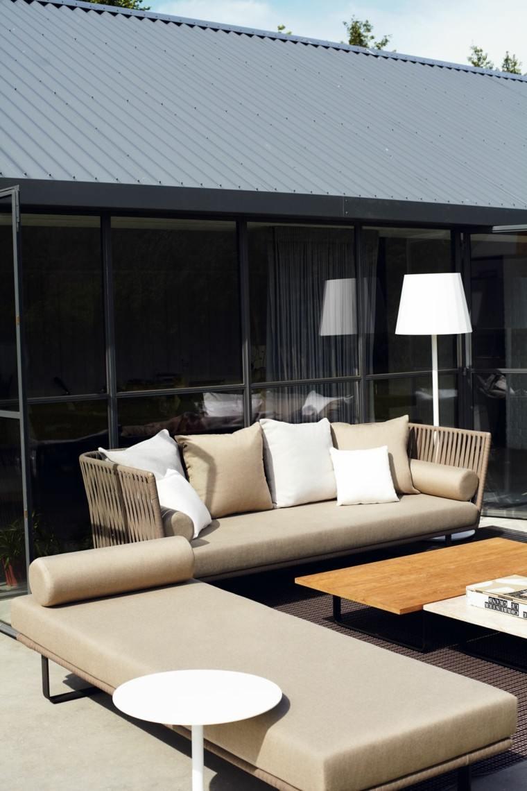cuerdas sofa cama lampara diseño