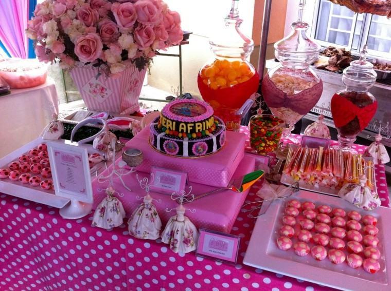 cumpleanos chica pastel grande rosa ideas flores