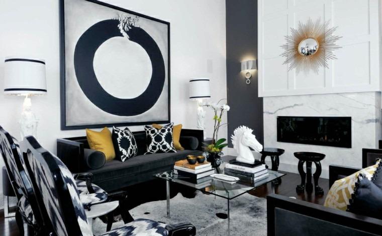 decoración moderna salón oro